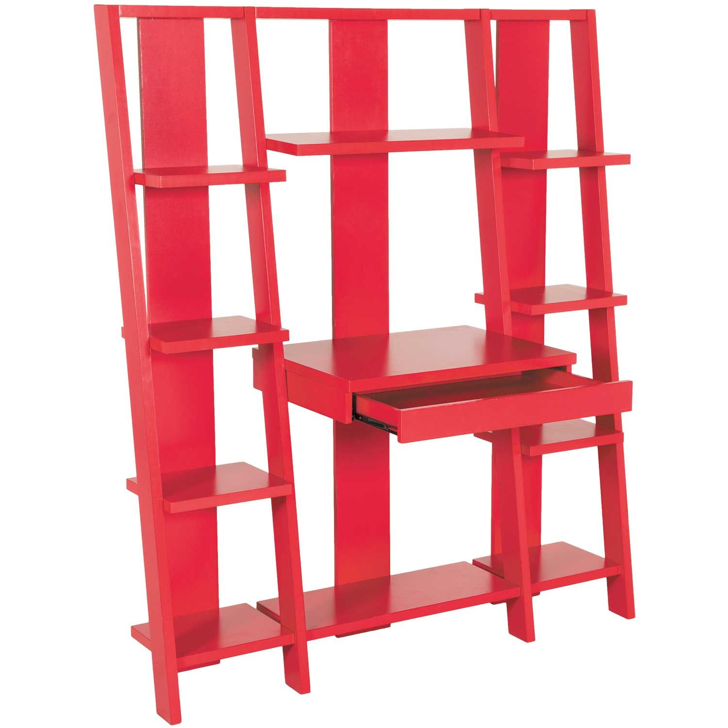 Tiffany Red Ladder Desk and Bookcase