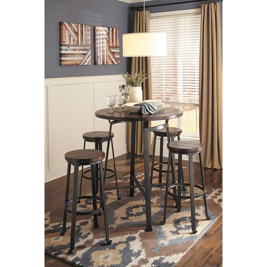 Round Bar Height Table and Bar Stools