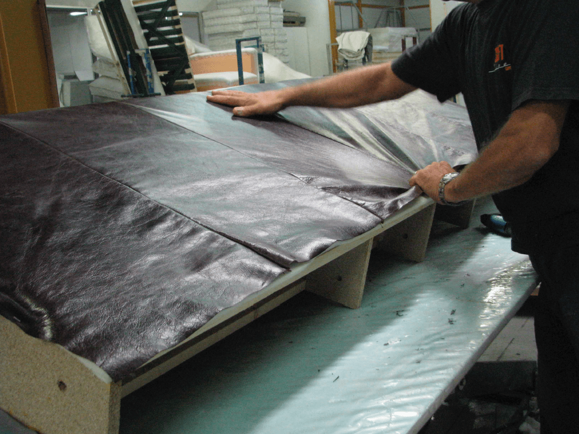 Putting leather on back