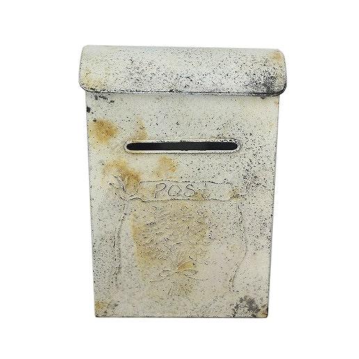 Ivory Vintage Mailbox