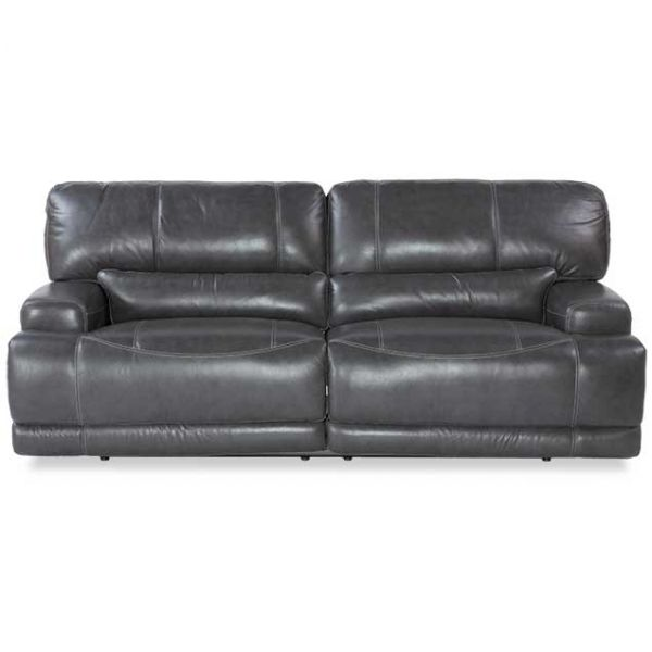 Gear Charcoal Leather Power Reclining Sofa
