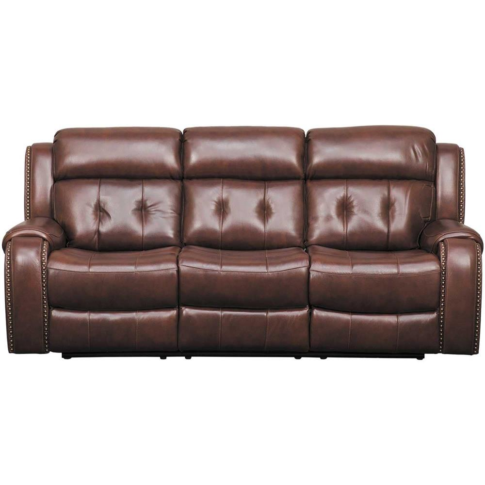 Owen Leather Power Reclining Sofa with Adjustable Headrest