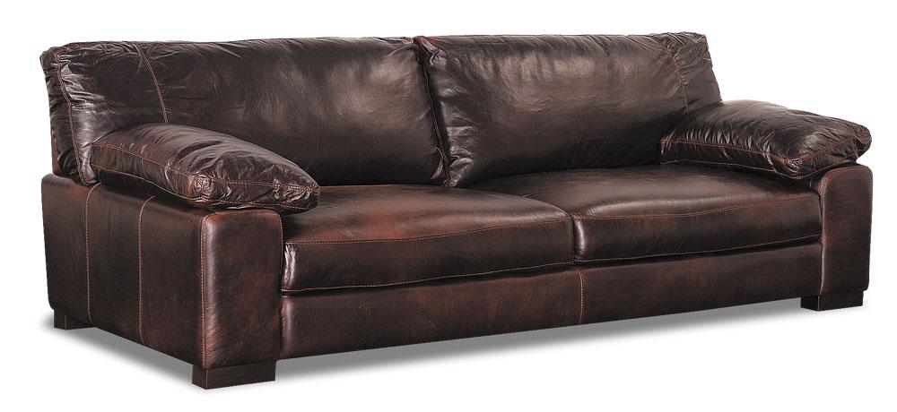 Soft Line Italian Leather Sofa, Soft Line Leather Sofa