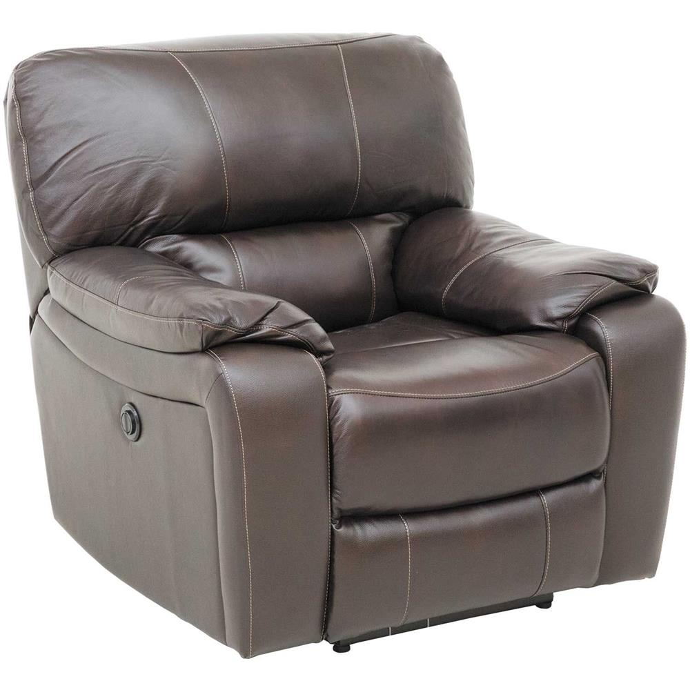 Wade Brown Leather Power Recliner