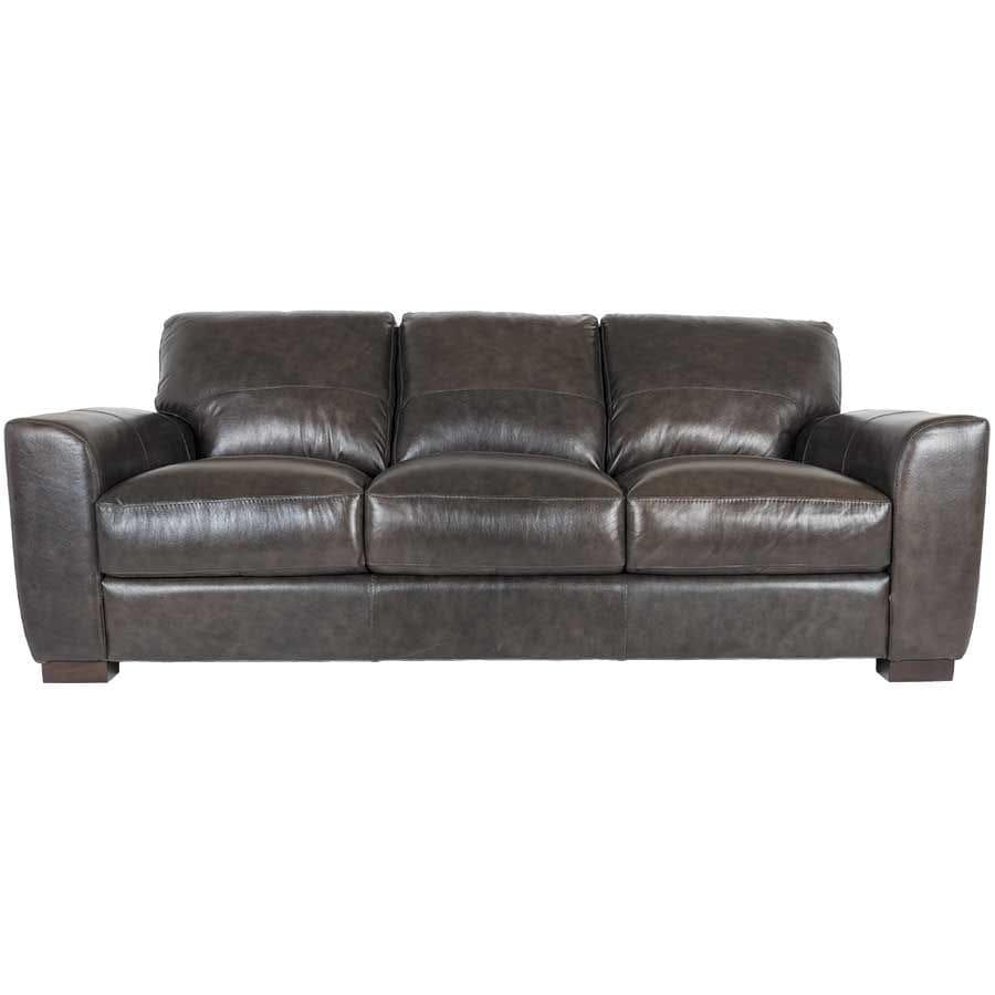 Dark Grey Italian All Leather Sofa