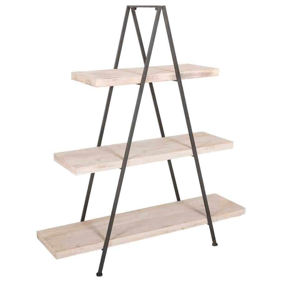 Wood and Metal Triangle Shelf