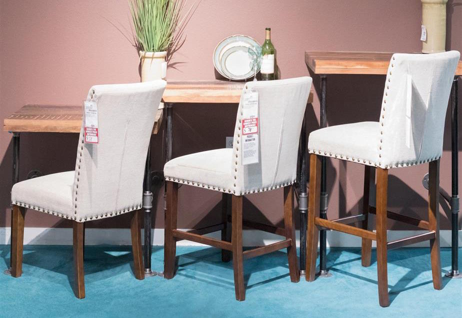 Comparison of standard dining chair, counter stool, and bar stool