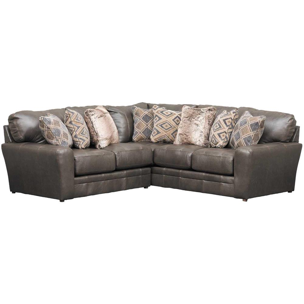 Denali 2 Piece Italian Leather Sectional with LAF Loveseat