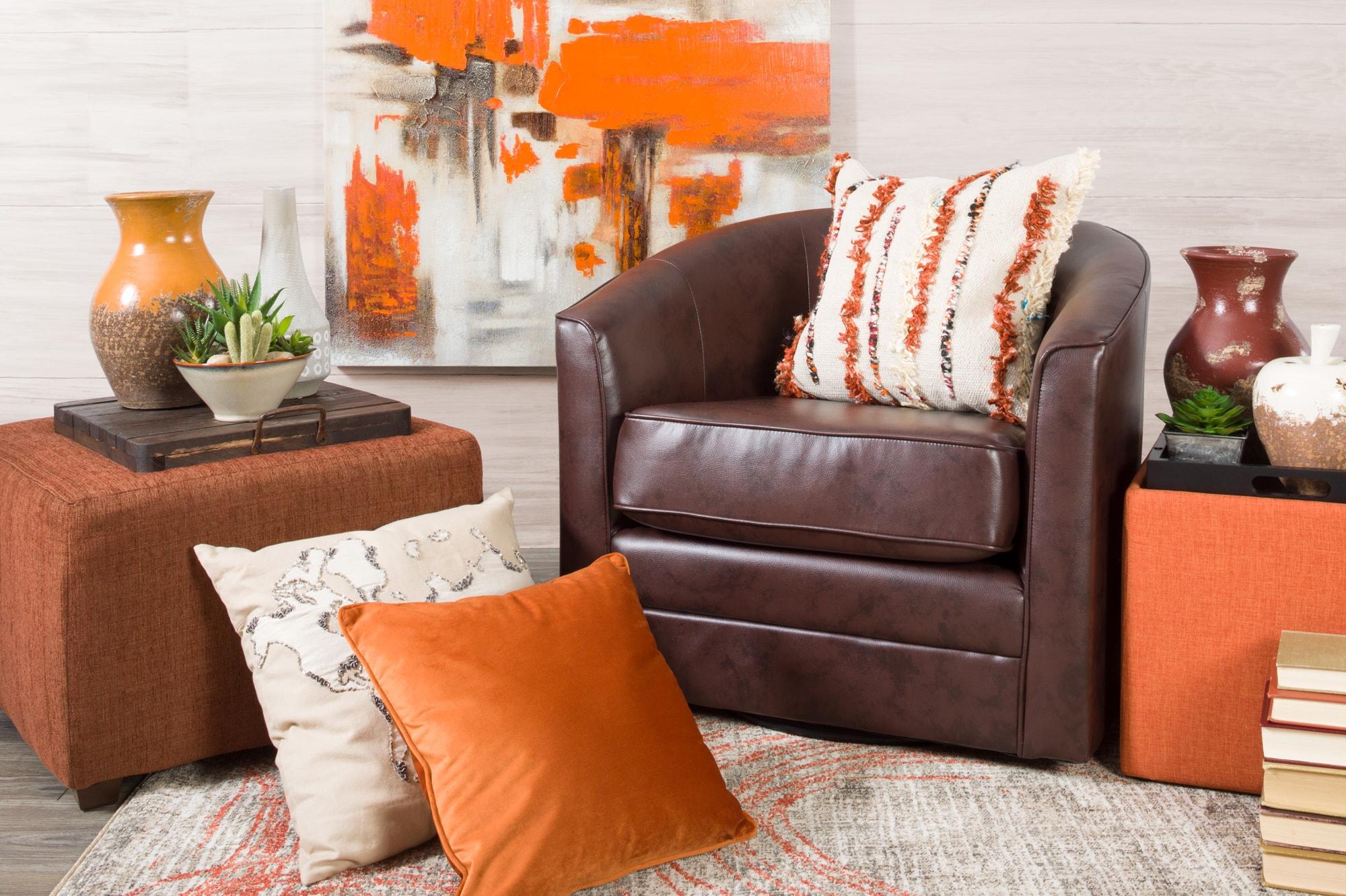 Monochromatic orange room