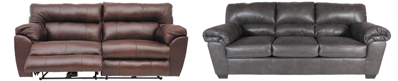 Reclining sofa and stationary sofa
