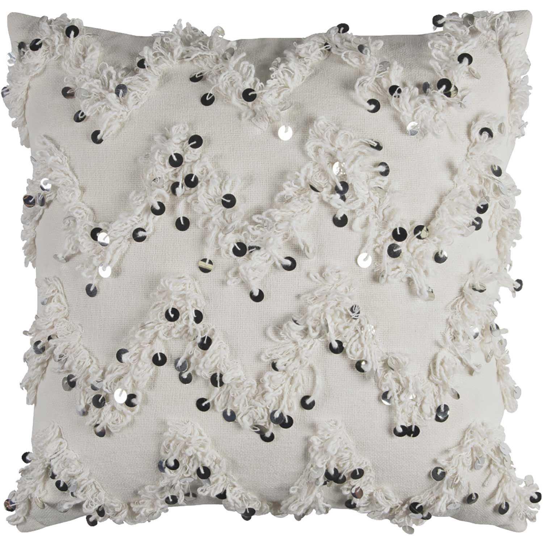 20x20 White Chevron Pillow