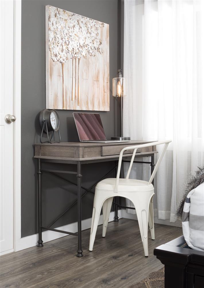 Visually light mixed-media furniture