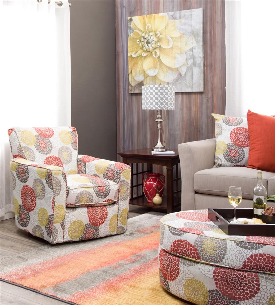 Accent chair that also swivels