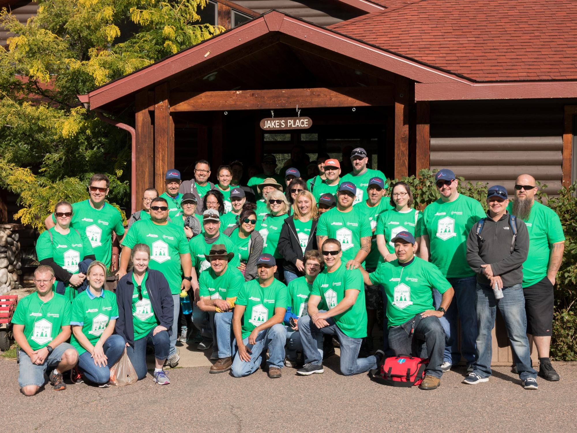 AFW voluneers at Easterseals Colorado Rocky Mountain Village Camp
