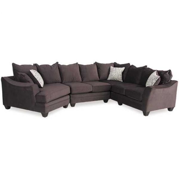 Flannel Seal 3 Piece Sectional