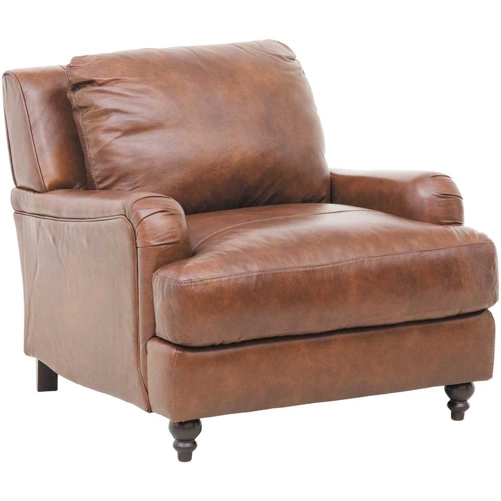 Ludwig Italian All Leather Accent Chair