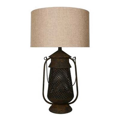 Picture of Metal Lantern Table Lamp