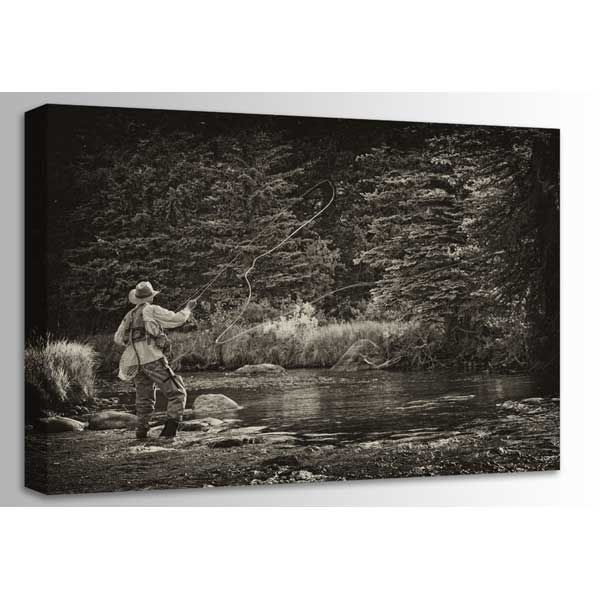 Picture of Fly Fishing Perfection- Sepia 48x32 *D