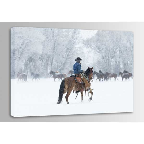 Picture of Snowy Gather 36x24 *D