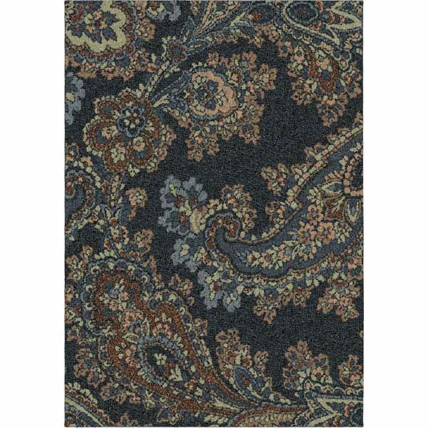 Picture of Paisley Dance Steel 7x10 Super Shag Rug