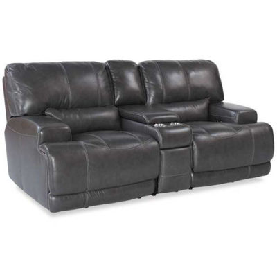 Picture of Gear Charcoal Leather Power Reclining Loveseat