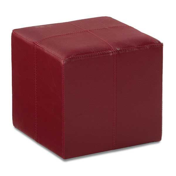 Picture of Rubic Red Durahide Cube Ottoman