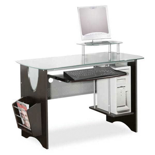 Picture of Glass Top Computer Desk