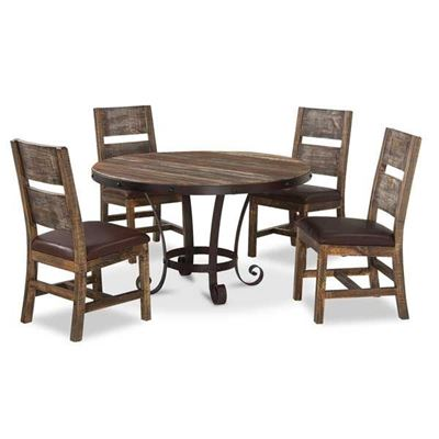 Picture of Antique 5 Piece Dining Set Round