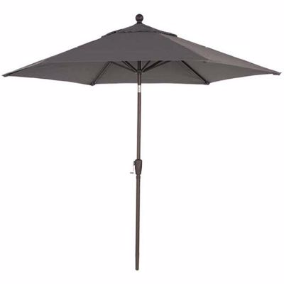 Picture of 9' Umbrella Tilt Push Button- Charcoal