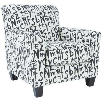 Picture of Brindon Black Script Accent Chair