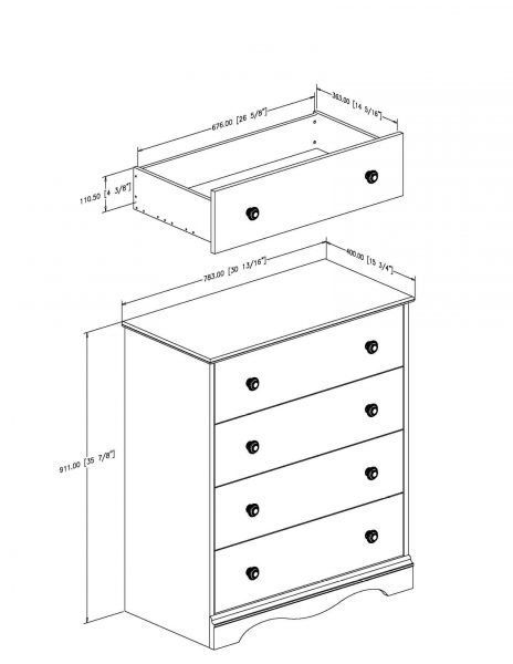 Picture of Heavenly 4-Drawer Chest *D