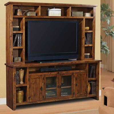 "Picture of Alder Grove 84"" TV Console and Hutch"