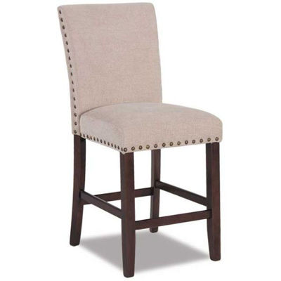 "Picture of Cream Chenille 24"" Parsons Barstool"