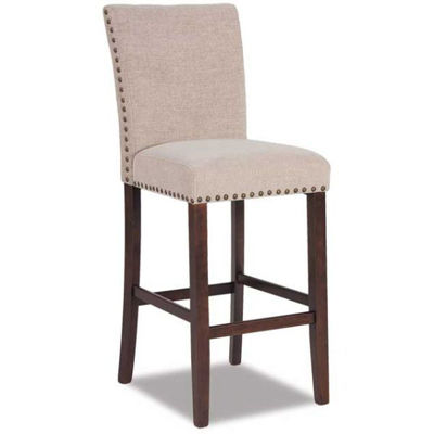 "Picture of Cream Chenille 30"" Barstool"