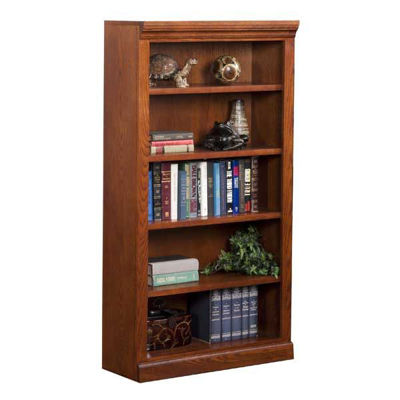 Picture of Burnish Oak Bookcase, 4 Shelf