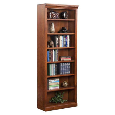 Picture of Burnish Oak Bookcase, 6 Shelf
