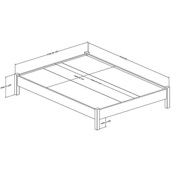 Picture of Step One Full Platform Bed *D