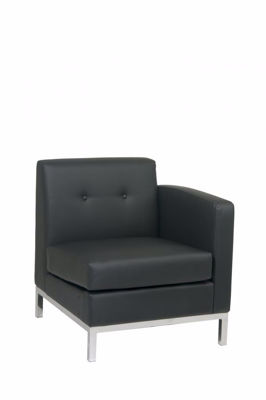 Picture of Wallstreet Black Arm Chair Raf *D