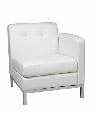 Picture of Wallstreet White Arm Chair Raf *D