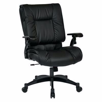 Picture of Black Bonded Leather Off Chair 9333E *D