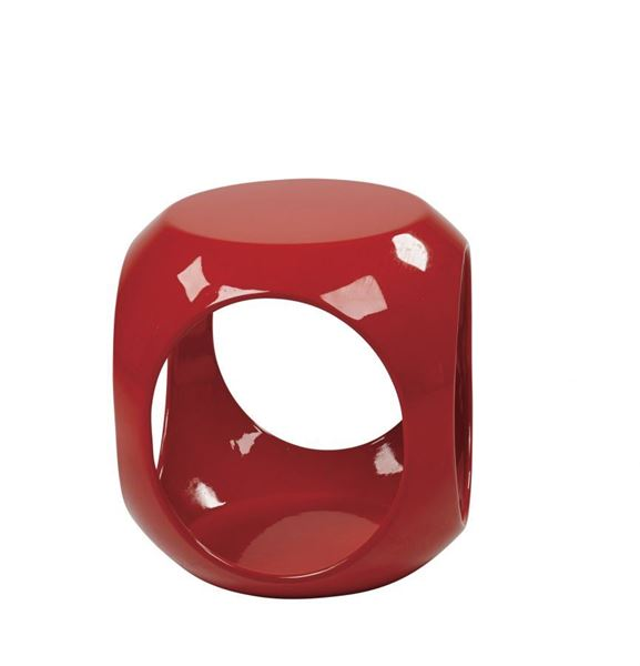 Picture of Slick Red Accent Table *D