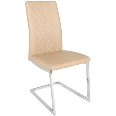Picture of Dining Chair Tan Chrome