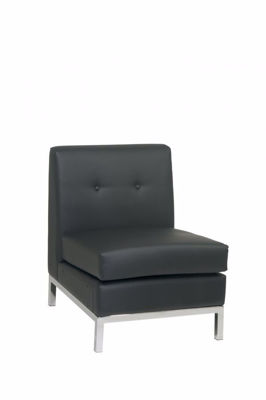 Picture of Wallstreet Black Armless Chair *D