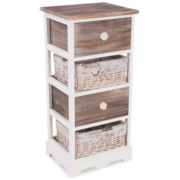 Picture of White Four Drawer Cabinet
