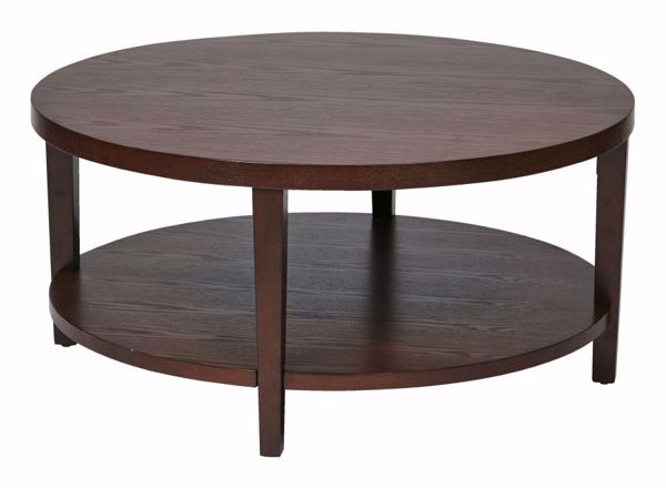 Picture of Mahogany Round Coffee Table *D