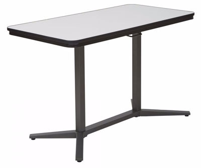 Picture of Pneumatic Adjustable Table in Titanium *D
