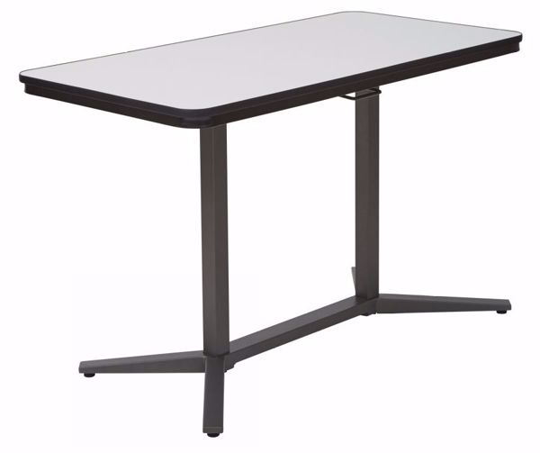 Picture of Pneumatic Adjustable Table in Titanium *D