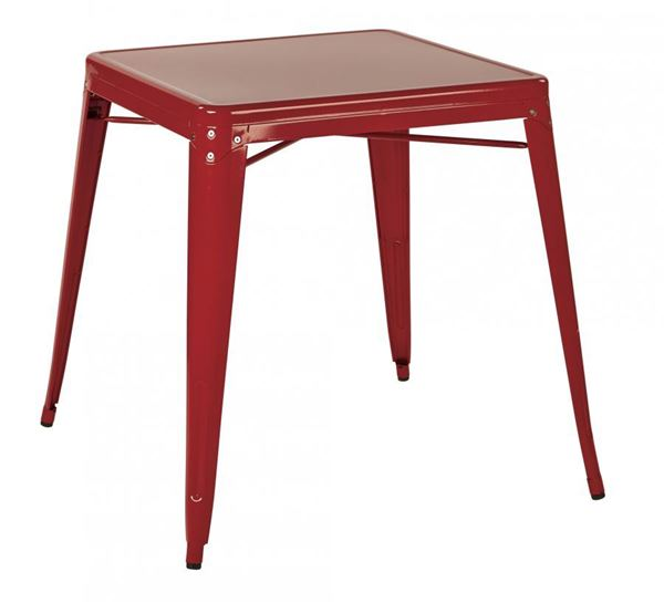 Picture of Paterson Metal Table Red *D
