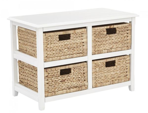 Picture of White Seabrook 2-Tier Storage *D