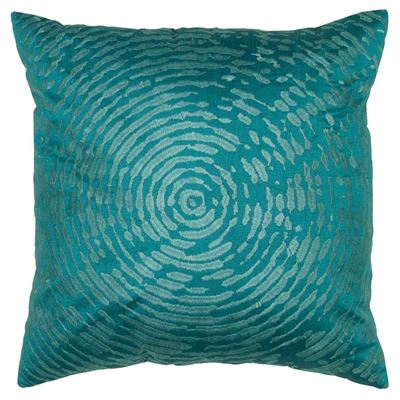 Picture of 18x18 Teal Spiral Pillow *P